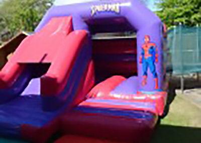 Ashbourne Bouncy Castles Spiderman Front Slide