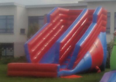 Bouncing Castles Dubshaughlin Super Slide Red and blue 10ft platform